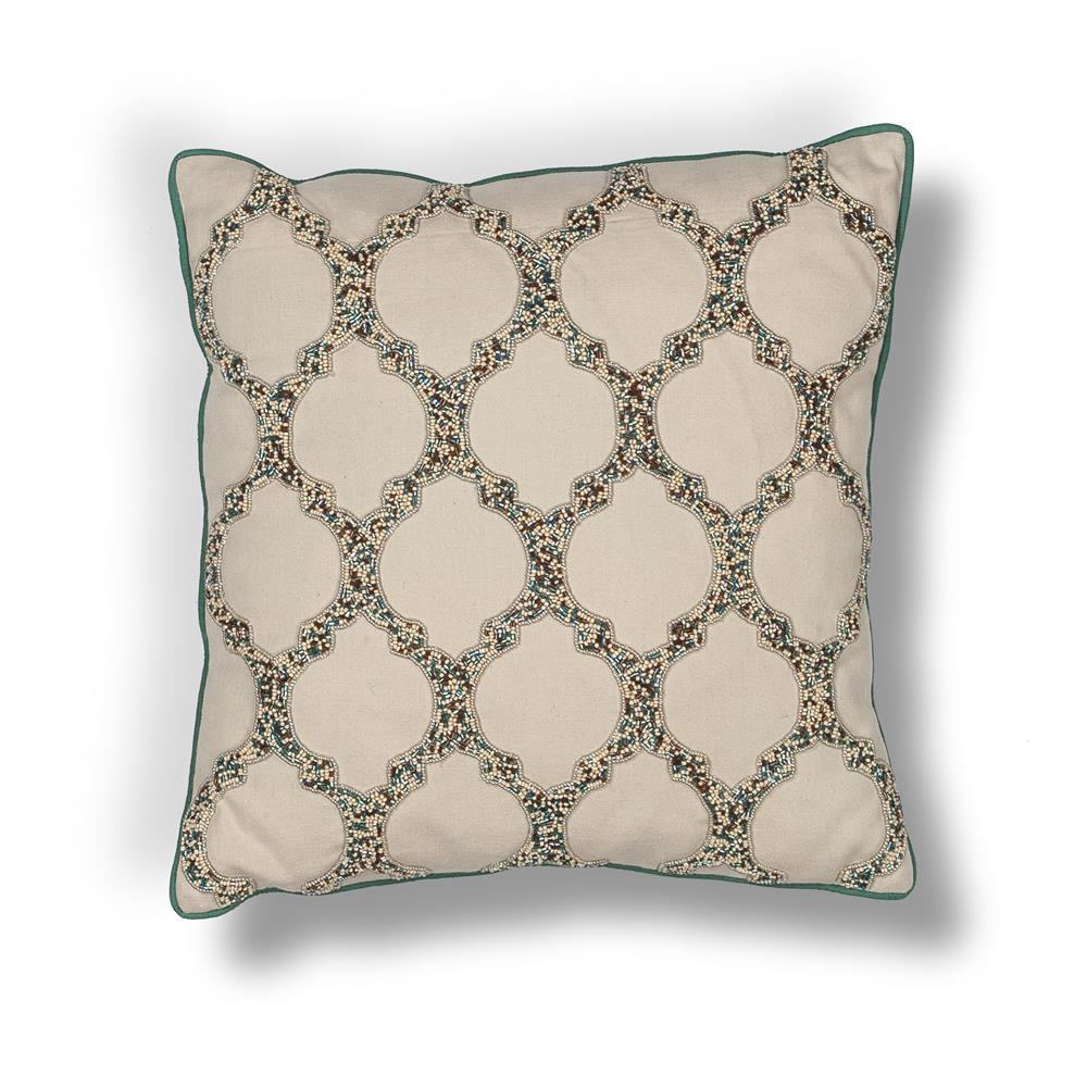 "KAS PILL191 18x18"" Pillow in Beige"