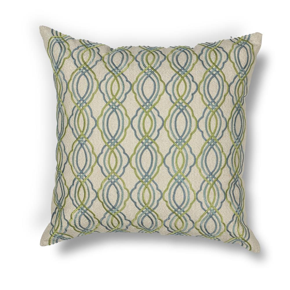 "KAS PILL195 18x18"" Pillow in Blue-green"