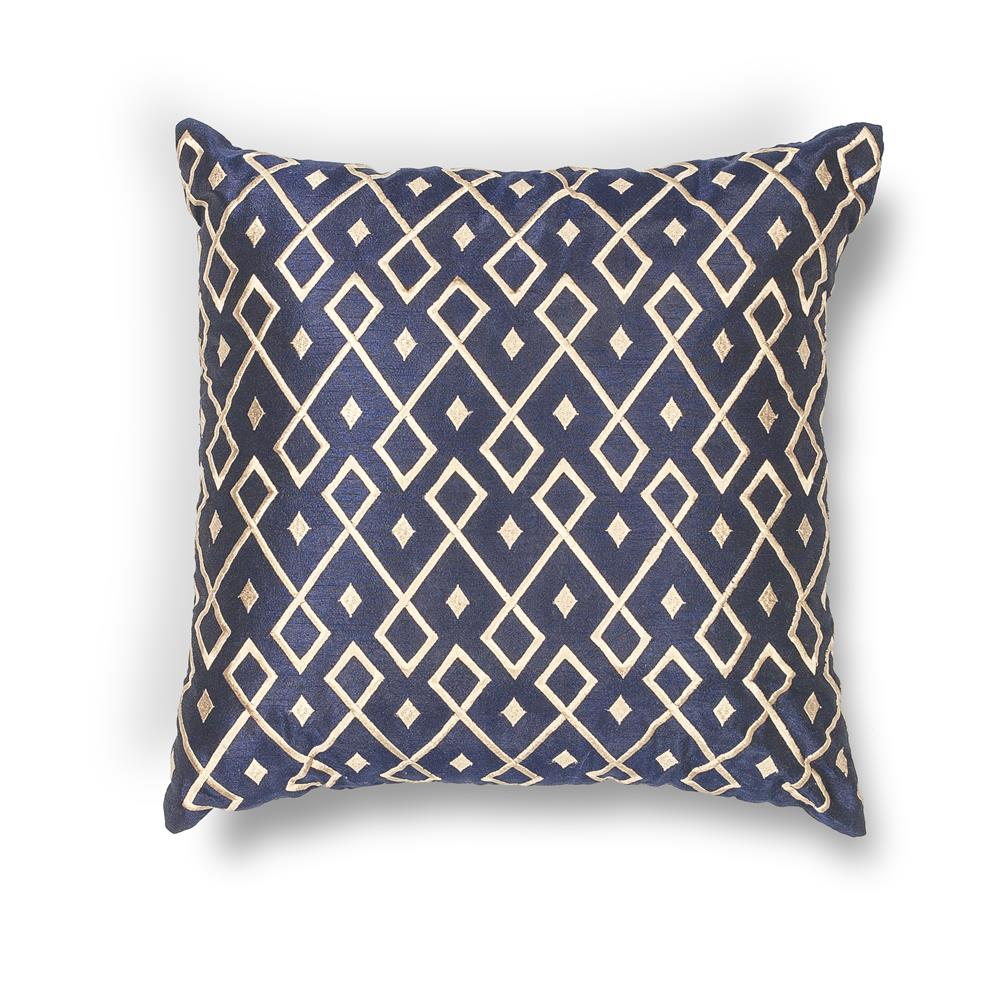 "KAS PILL203 12x20"" Pillow in Gold-navy"