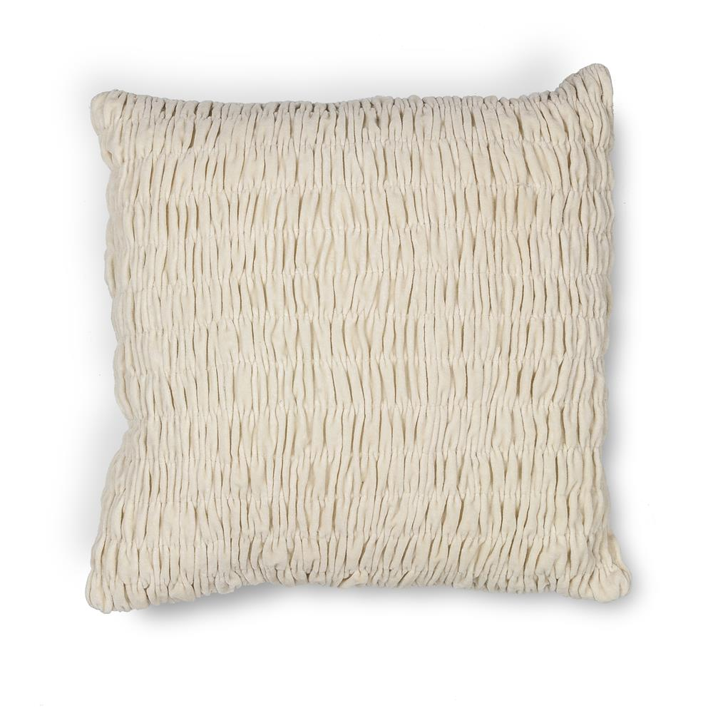 "KAS PILL208 18x18"" Pillow in Ivory"