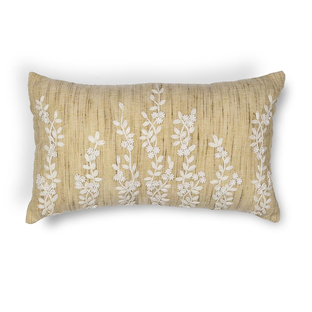 "KAS PILL216 12x20"" Pillow in Beige"