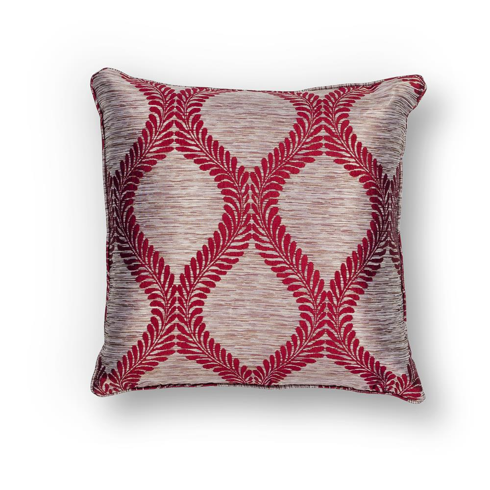 "KAS PILL239 18x18"" Pillow in Red"
