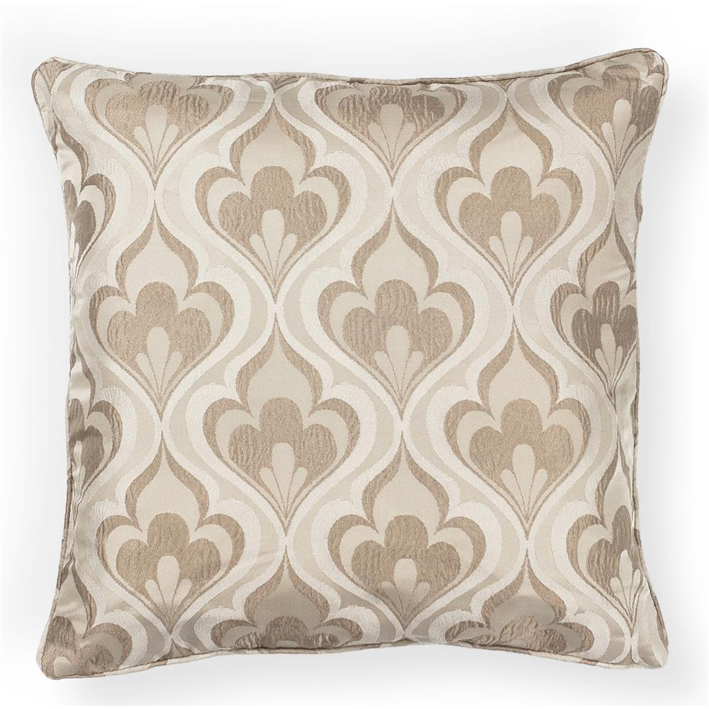 "KAS PILL252 18x18"" Pillow in Beige"
