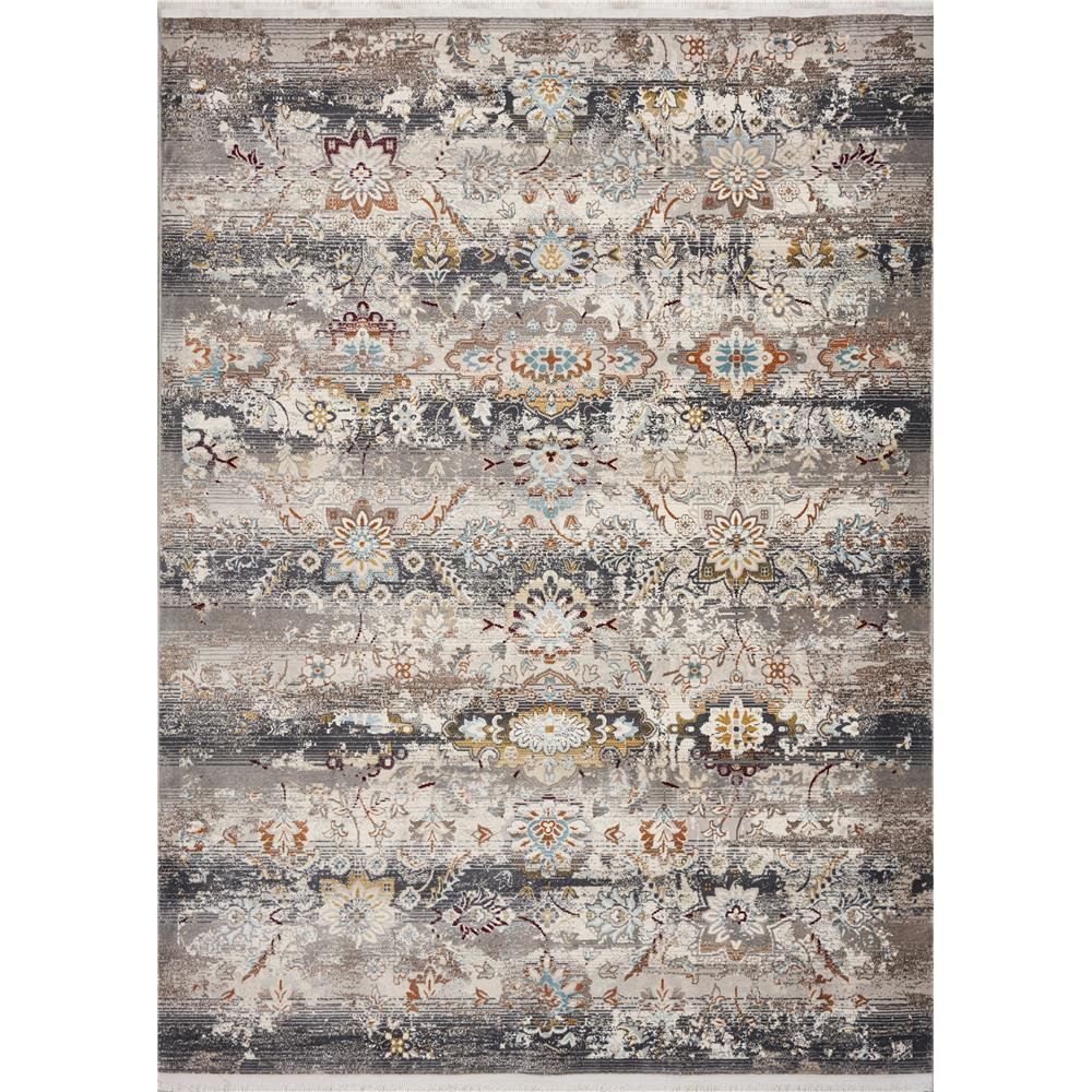 KAS 4522 Papillon 2 Ft. 7 In. X 9 Ft. 10 In. Runner Rug in Grey