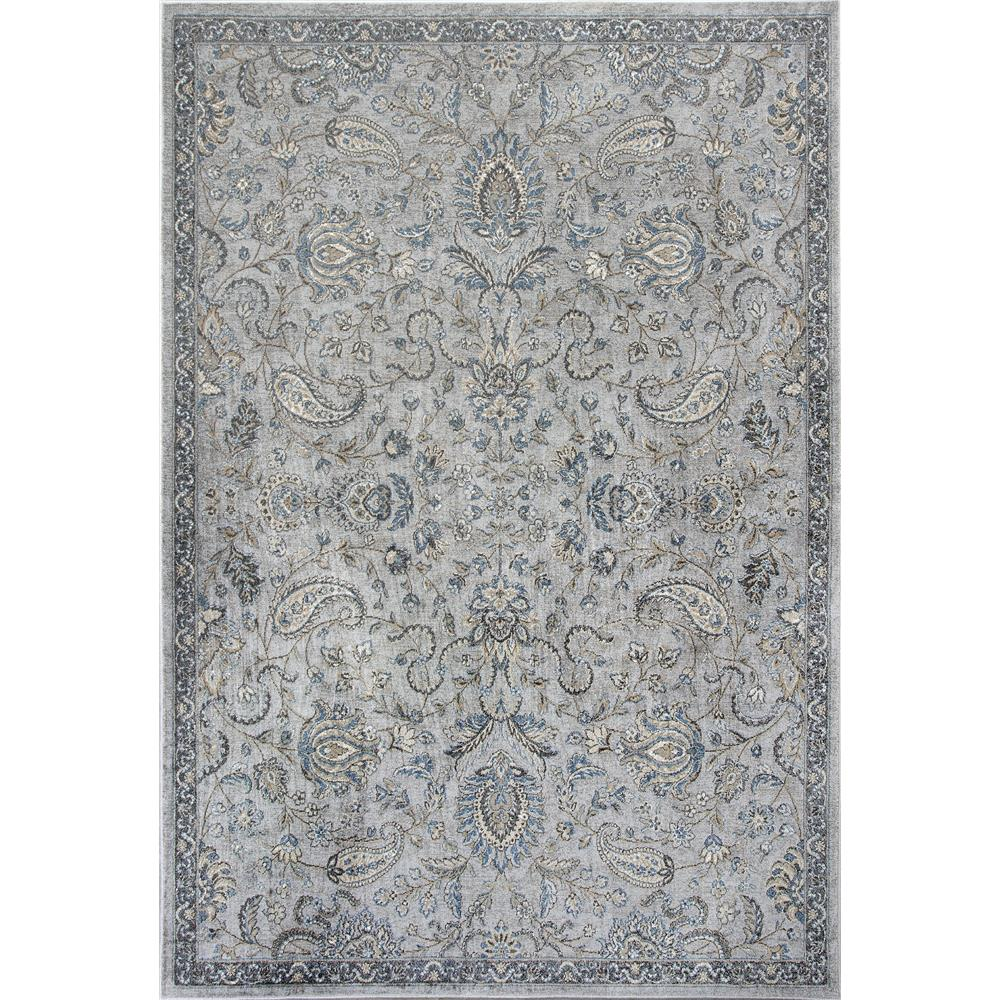KAS 8613 Provence 2 Ft. 2 In. X 3 Ft. 7 In. Rectangle Rug in Silver/Blue