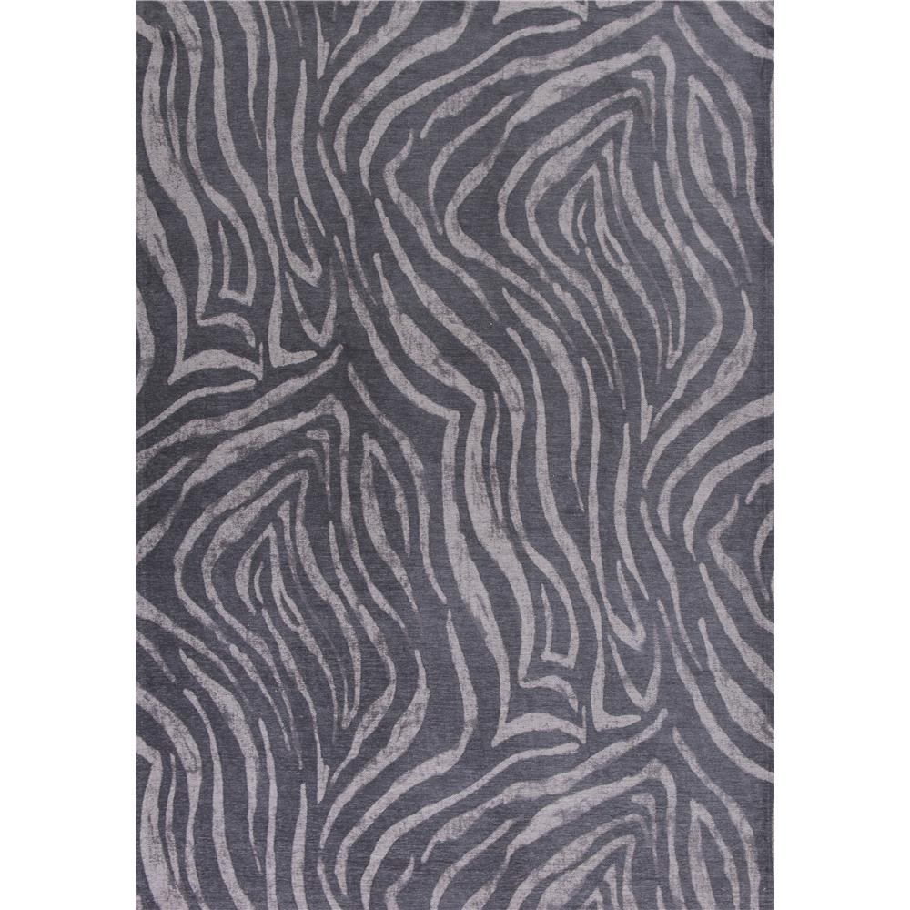 KAS RET0105 Retreat 1 Ft. 8 In. X 2 Ft. 7 In. Rectangle Rug in Charcoal