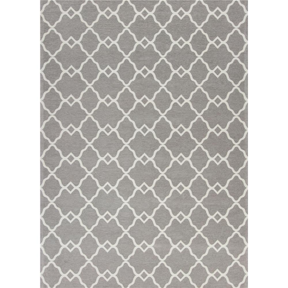 KAS 0125 Retreat 2 Ft. 2 In. X 7 Ft. 6 In. Runner Rug in Grey
