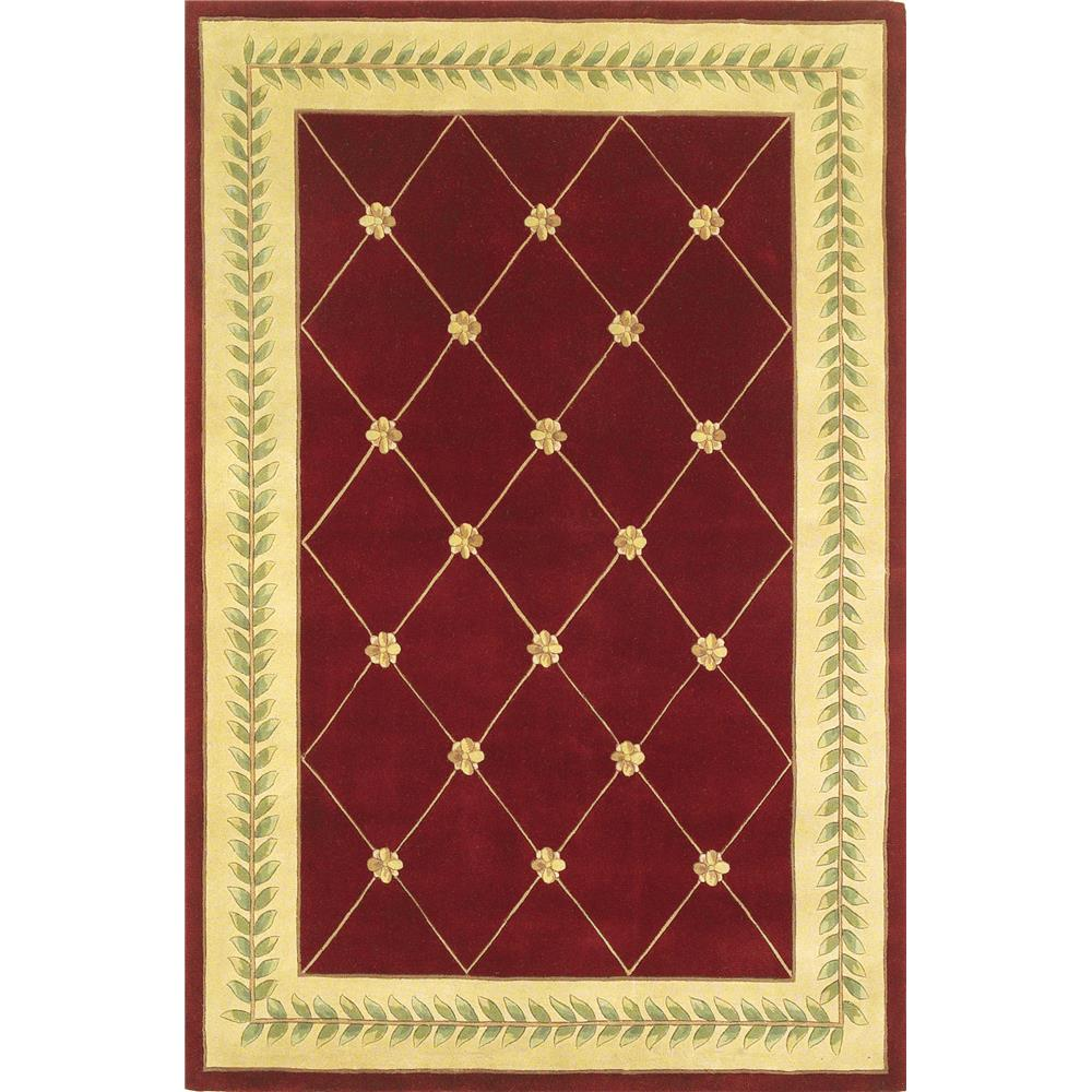 KAS 8914 Ruby 2 Ft. 6 In. X 4 Ft. 2 In. Rectangle Rug in Ruby/Gold