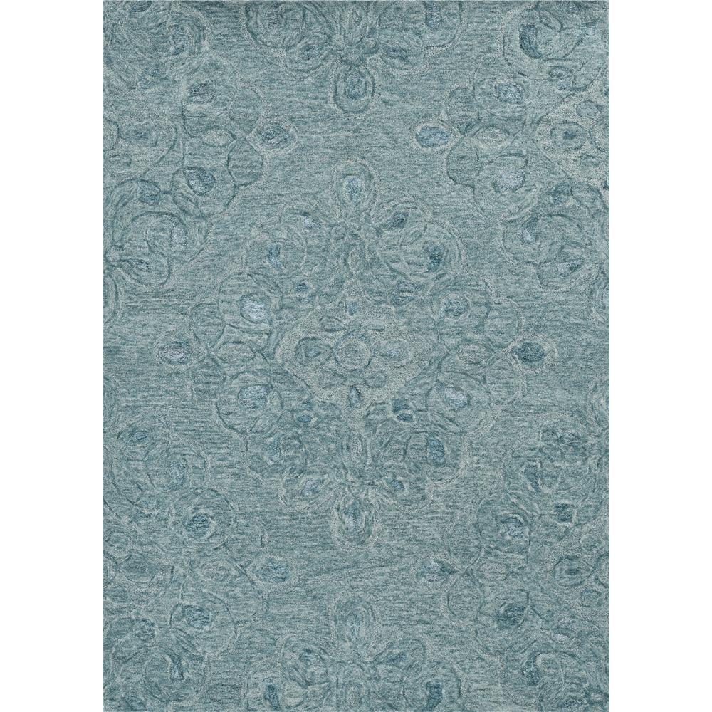 KAS 1257 Serenity 3 Ft. 3 In. X 5 Ft. 3 In. Rectangle Rug in Seafoam