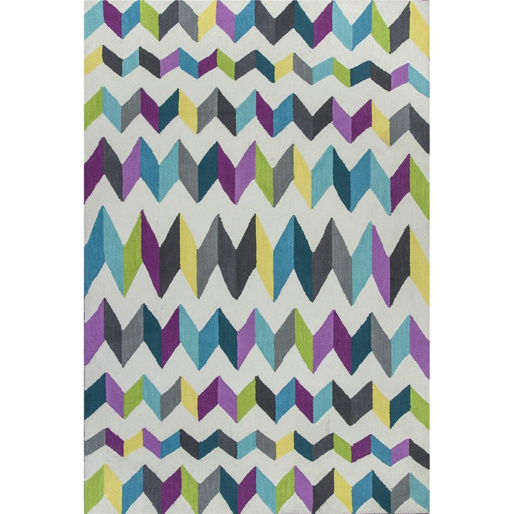 KAS 6306 Shelby 5 Ft. X 7 Ft. Rectangle Rug in Teal/Grey