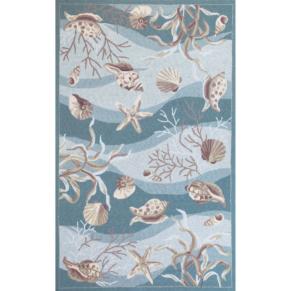 KAS 2003 Sonesta 1 Ft. 8 In. X 2 Ft. 9 In. Rectangle Rug in Seafoam