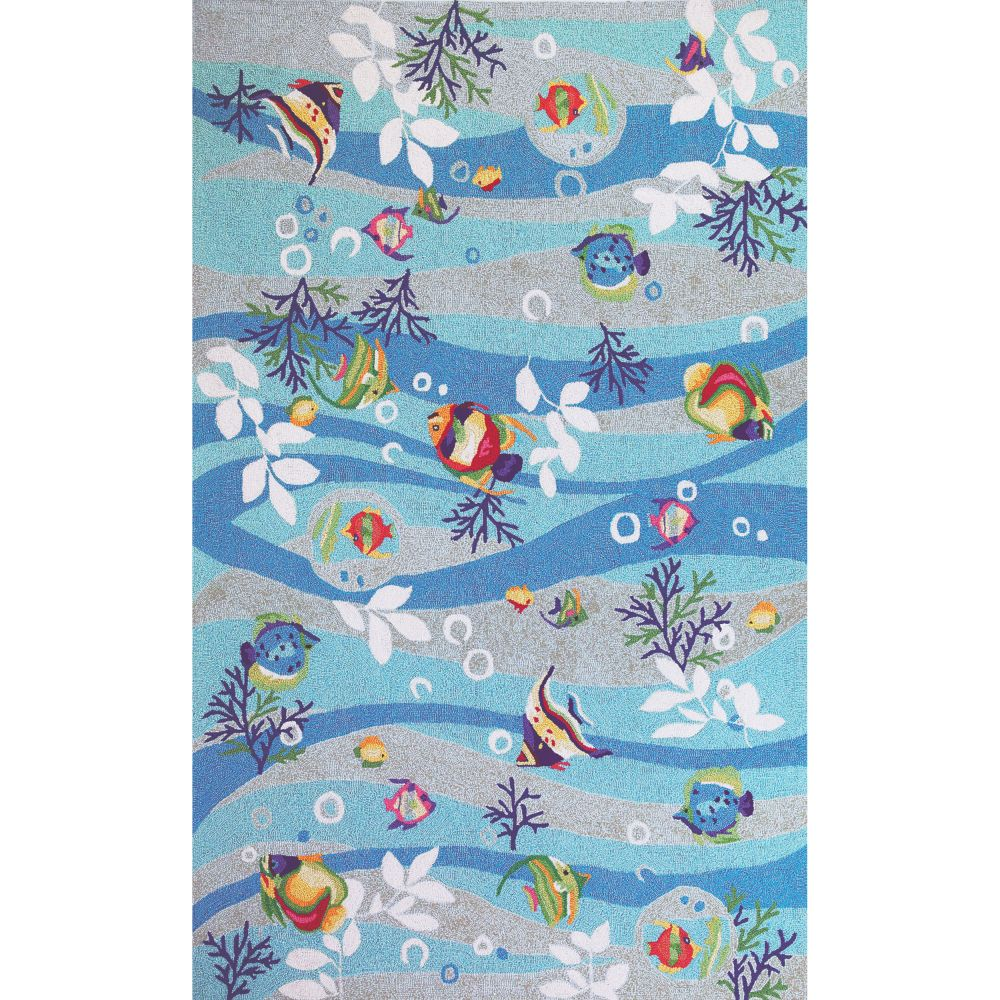 KAS 2011 Sonesta 2 Ft. X 7 Ft. 6 In. Runner Rug in Blue
