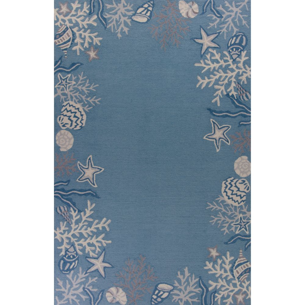 KAS SOE2024 Sonesta 2 Ft. 3 In. X 3 Ft. 9 In. Runner Rug in Sea Blue