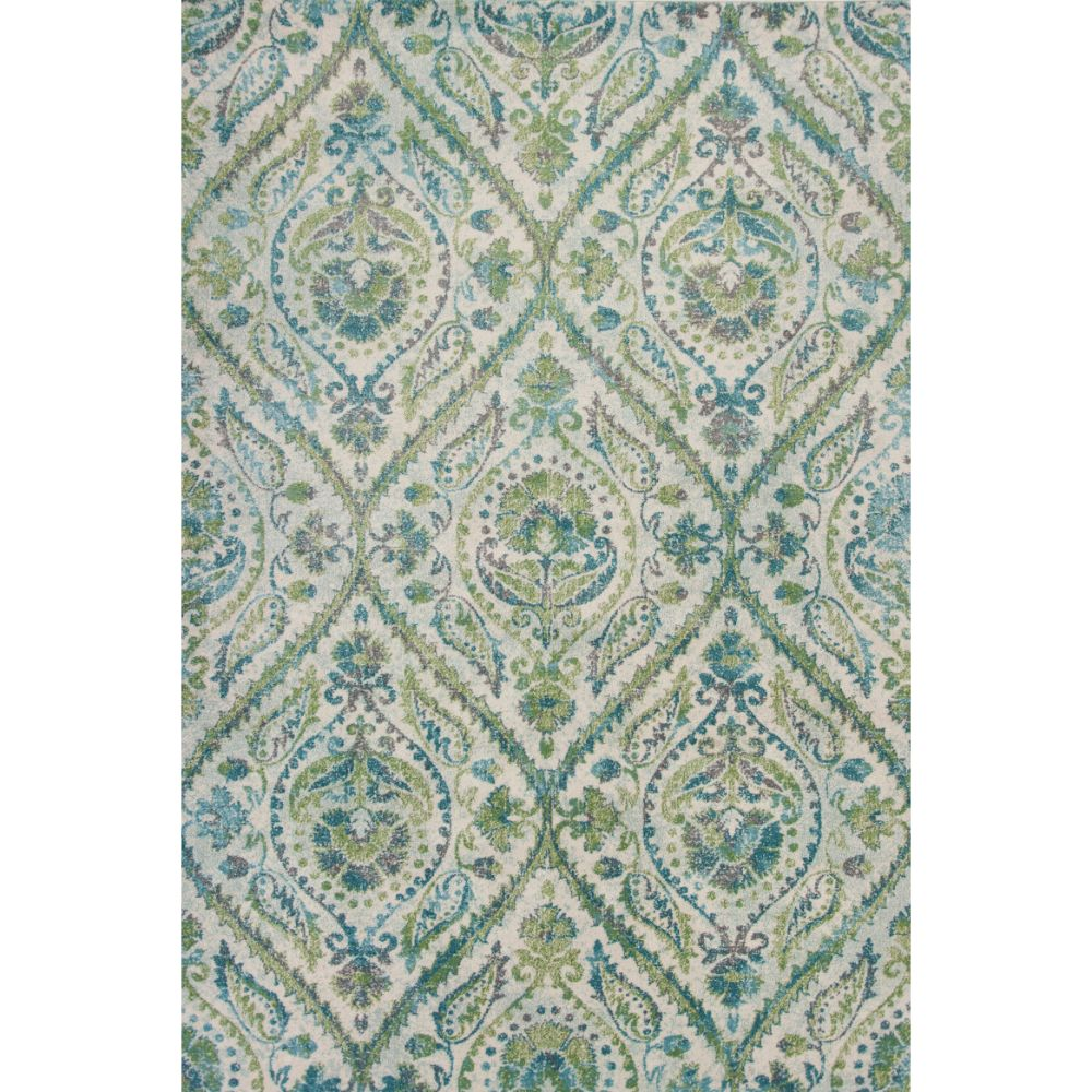 KAS 6256 Stella 3 Ft. 3 In. X 4 Ft. 11 In. Rectangle Rug in Ivory/Teal