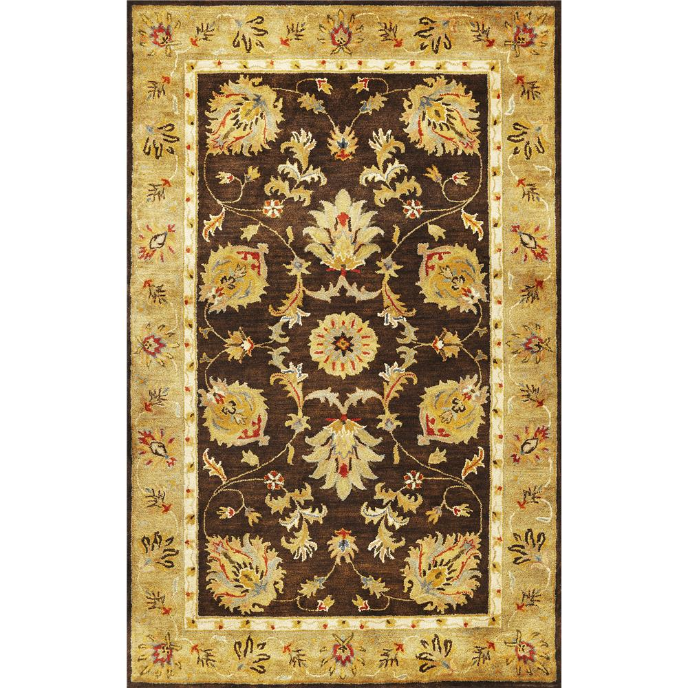 KAS 6001 Syriana 3 Ft. 3 In. X 5 Ft. 3 In. Rectangle Rug in Mocha/Gold