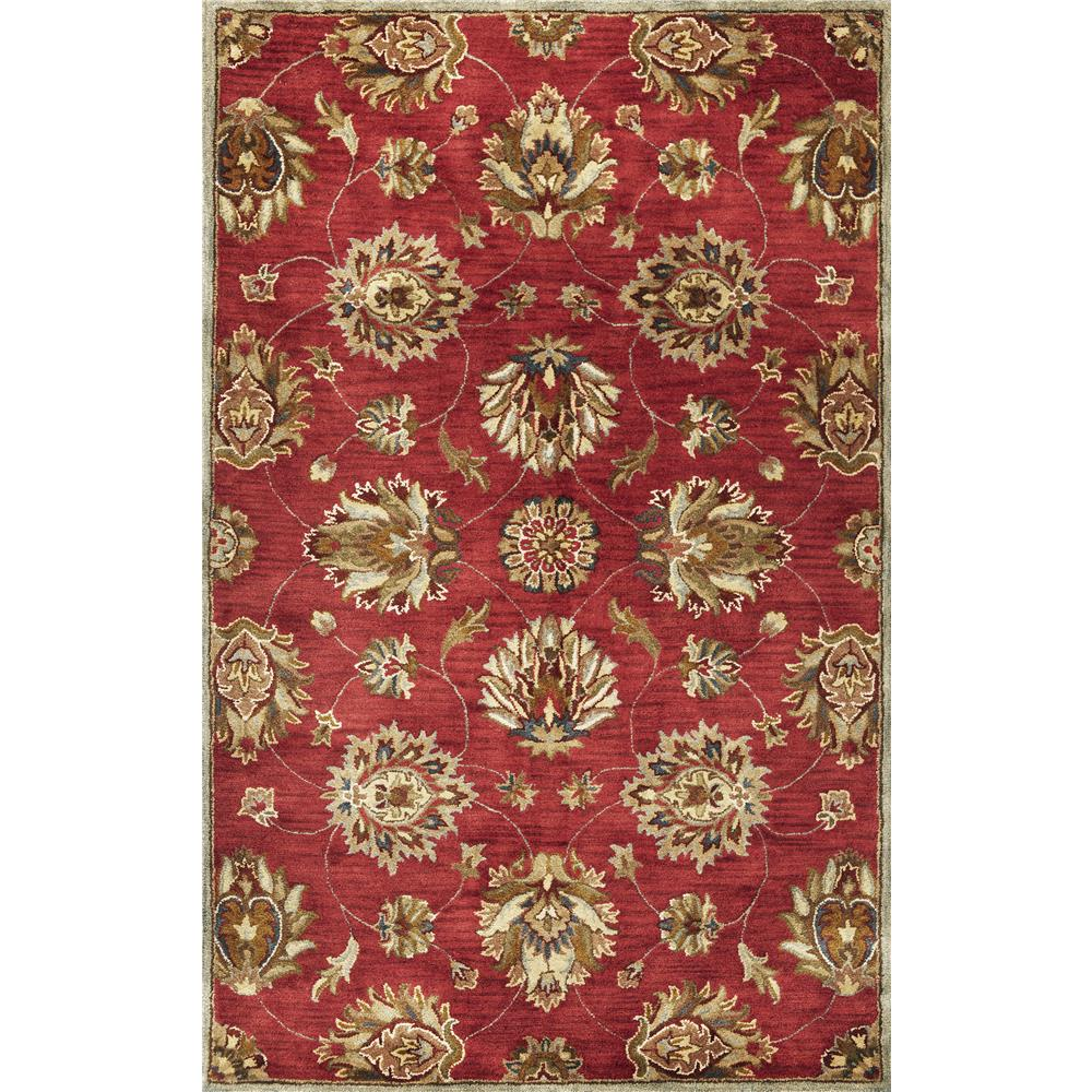 KAS 6003 Syriana 2 Ft. 3 In. X 7 Ft. 6 In. Runner Rug in Red