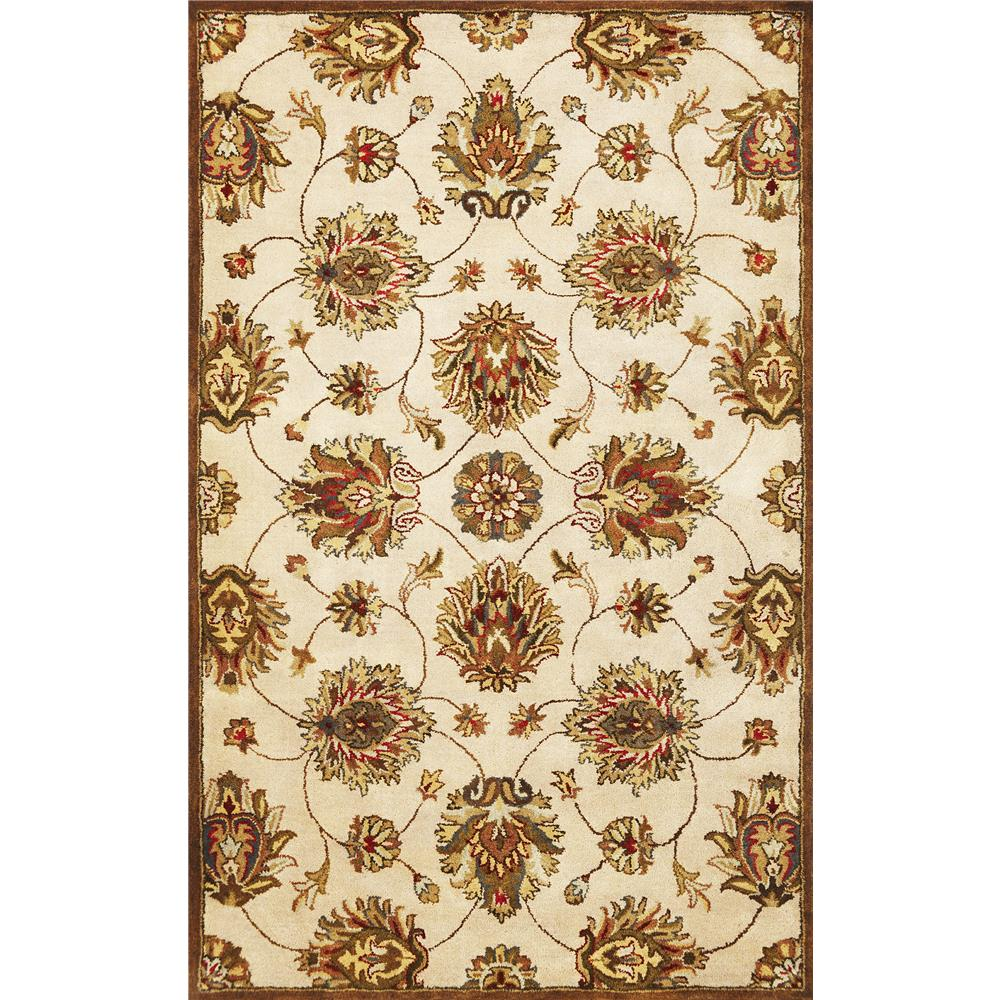 KAS 6005 Syriana 2 Ft. 3 In. X 7 Ft. 6 In. Runner Rug in Ivory