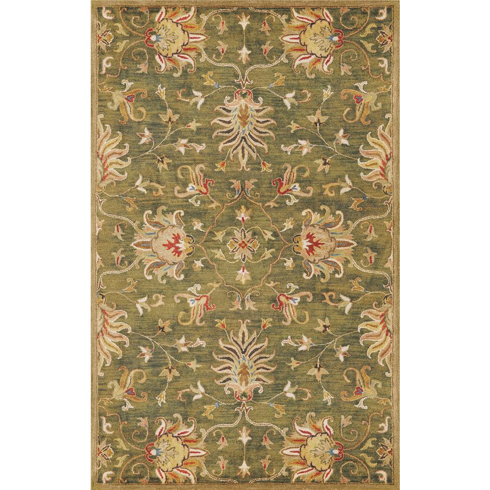 KAS 6010 Syriana 2 Ft. 3 In. X 7 Ft. 6 In. Runner Rug in Emerald Green
