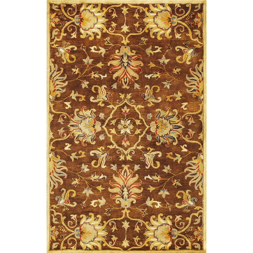 KAS 6011 Syriana 3 Ft. 3 In. X 5 Ft. 3 In. Rectangle Rug in Mocha