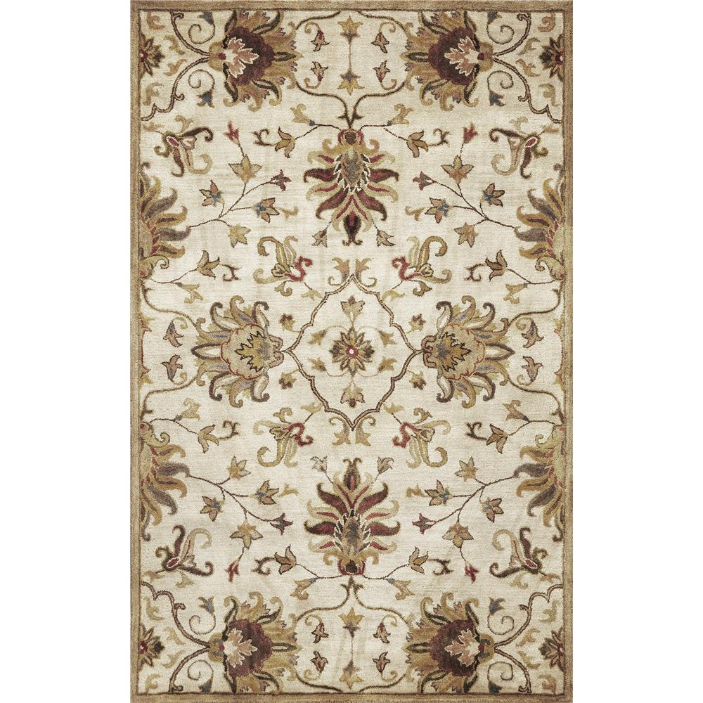 KAS 6012 Syriana 2 Ft. 3 In. X 7 Ft. 6 In. Runner Rug in Champagne