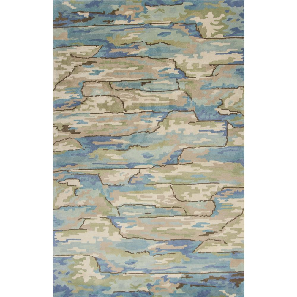 KAS 3002 Whisper 5 Ft. X 8 Ft. Rectangle Rug in Beige/Blue