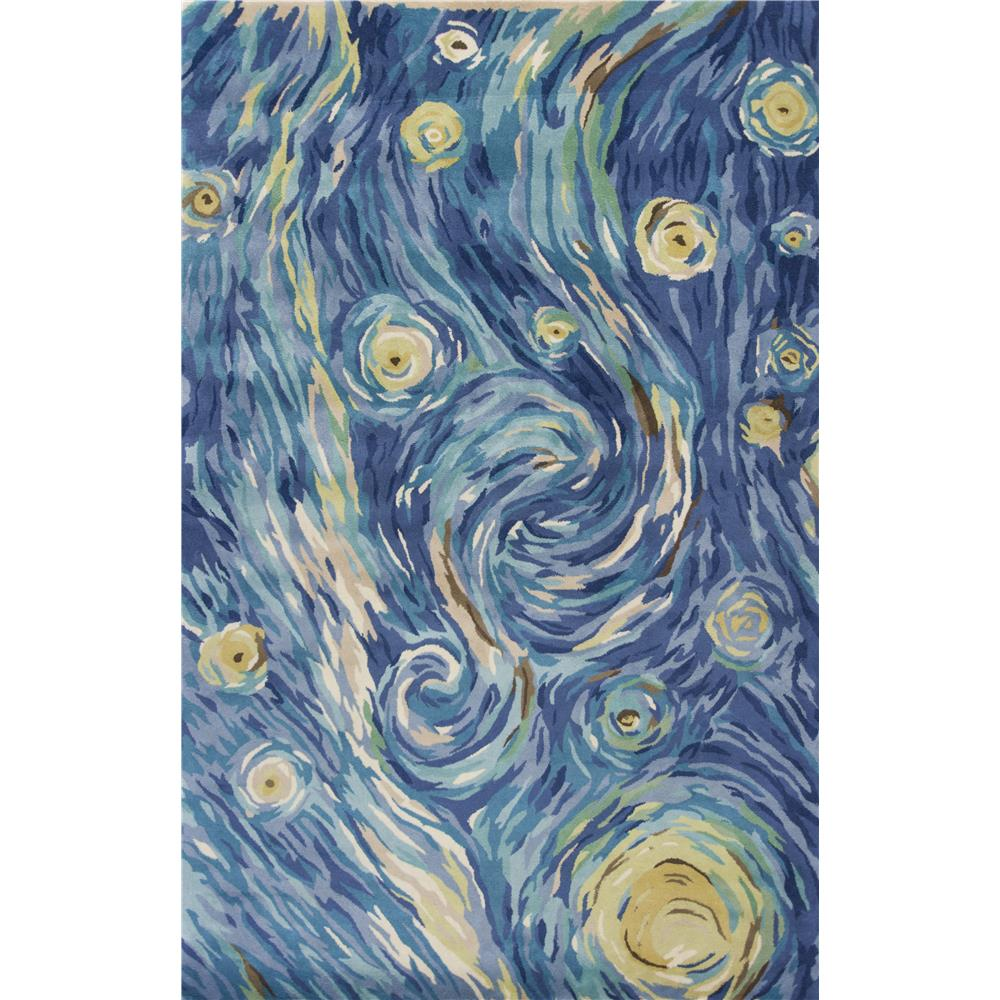KAS 3003 Whisper 3 Ft. 3 In. X 5 Ft. 3 In. Rectangle Rug in Blue