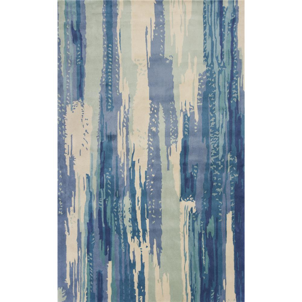 KAS 3004 Whisper 5 Ft. X 8 Ft. Rectangle Rug in Ivory/Blue