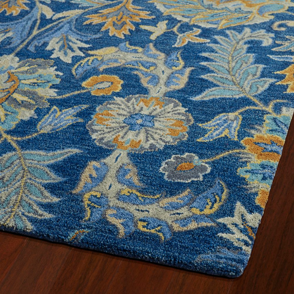 Kaleen Rugs 3212-17 Helena 2 Ft. X 3 Ft. Rectangle Rug in Blue