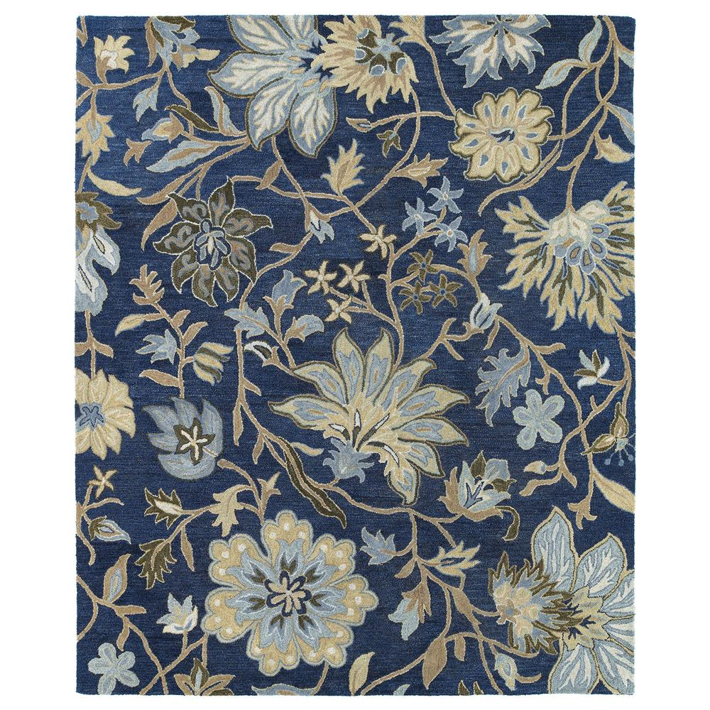 Kaleen Rugs 5304-17 Brooklyn 2 Ft. X 3 Ft. Rectangle Rug in Blue