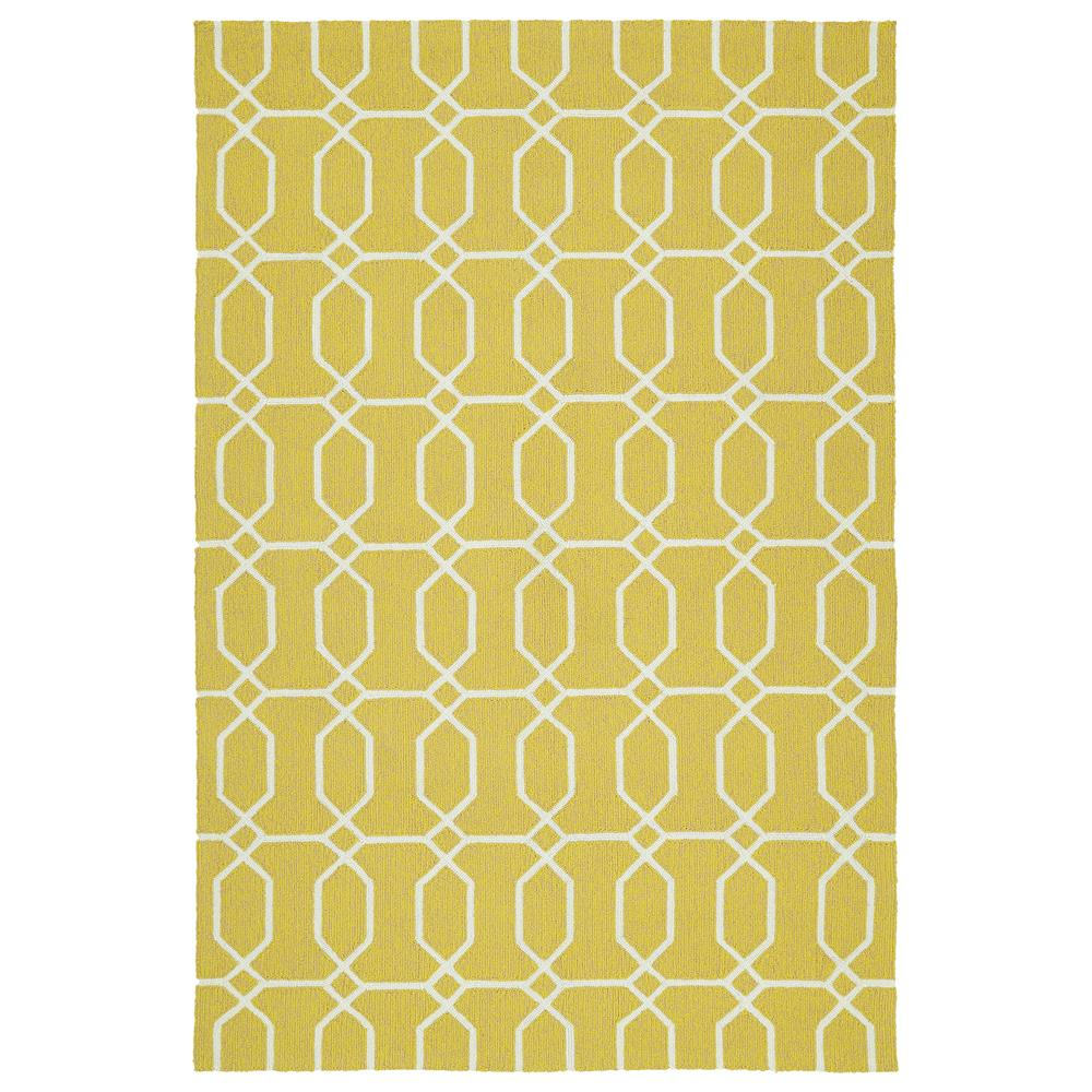 Kaleen Rugs ESC10-05 Escape 5 Ft. X 7 Ft. 6 In. Rectangle Indoor/Outdoor Rug in Gold