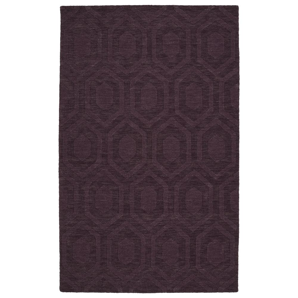Kaleen Rugs IPM01-95 Imprints Modern Collection 3 Ft 6 In x 5 Ft 6 In Rectangle Rug in Purple