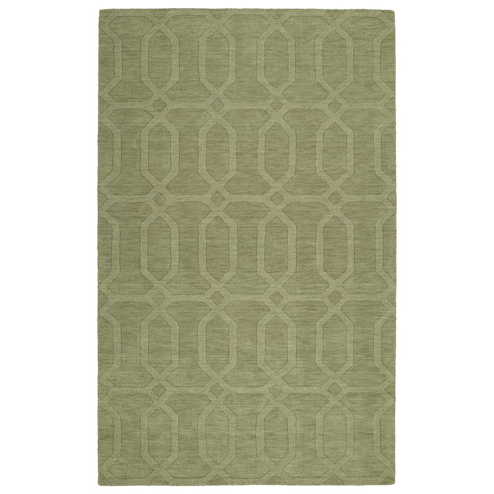 Kaleen Rugs IPM03-59 Imprints Modern Collection 2 Ft 6 In x 8 Ft Runner Rug in Sage