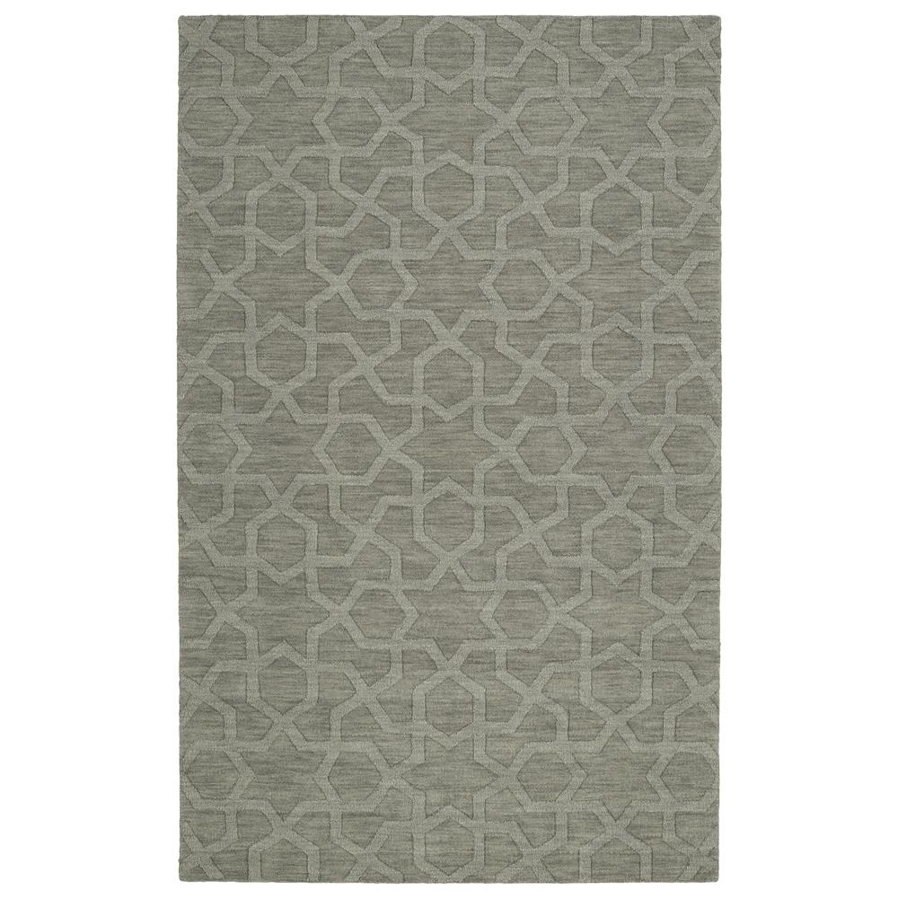 Kaleen Rugs IPM06-75 Imprints Modern Collection 2 Ft 6 In x 8 Ft Runner Rug in Grey