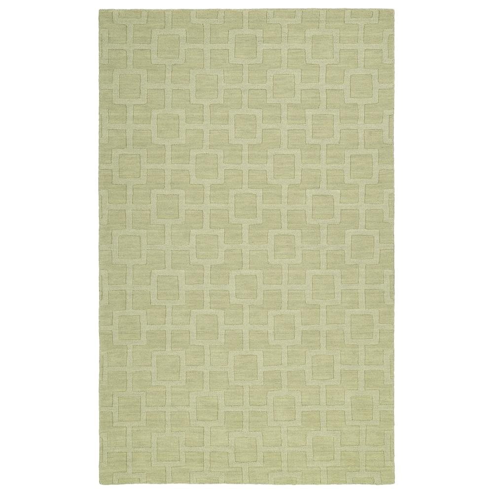 Kaleen Rugs IPM07-33 Imprints Modern Collection 2 Ft 6 In x 8 Ft Runner Rug in Celery