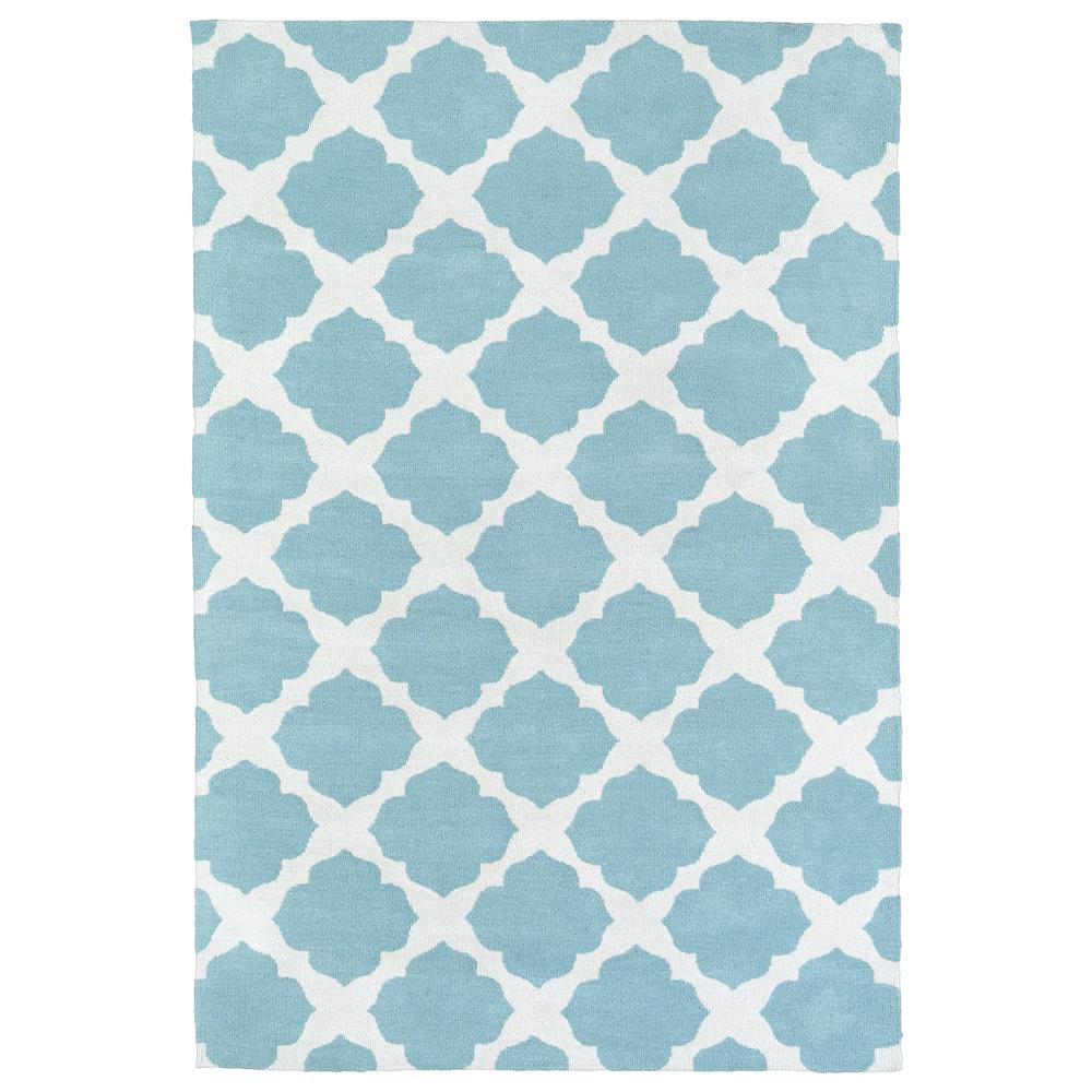 Kaleen Rugs LAL01-78 Lily & Liam 8 Ft. X 10 Ft. Rectangle Rug in Turquoise