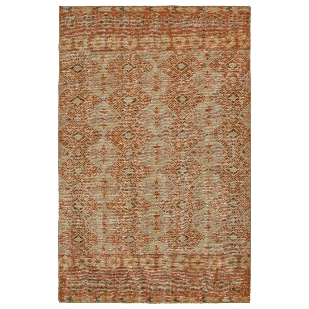 Kaleen Rugs RLC04-89 Relic Collection 5 Ft 6 In x 8 Ft 6 In Rectangle Rug in Orange