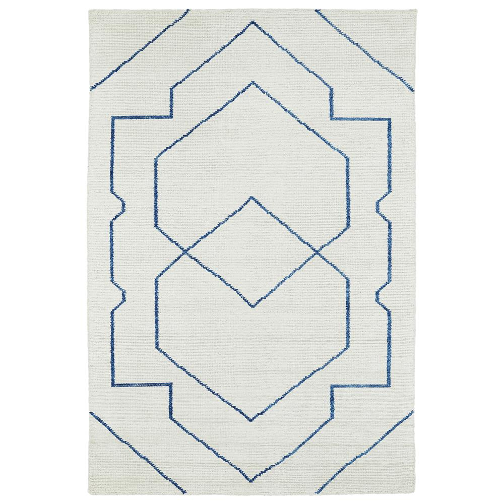 Kaleen Rugs SOL01-1 Solitaire Collection 4 Ft x 6 Ft Rectangle Rug in Ivory