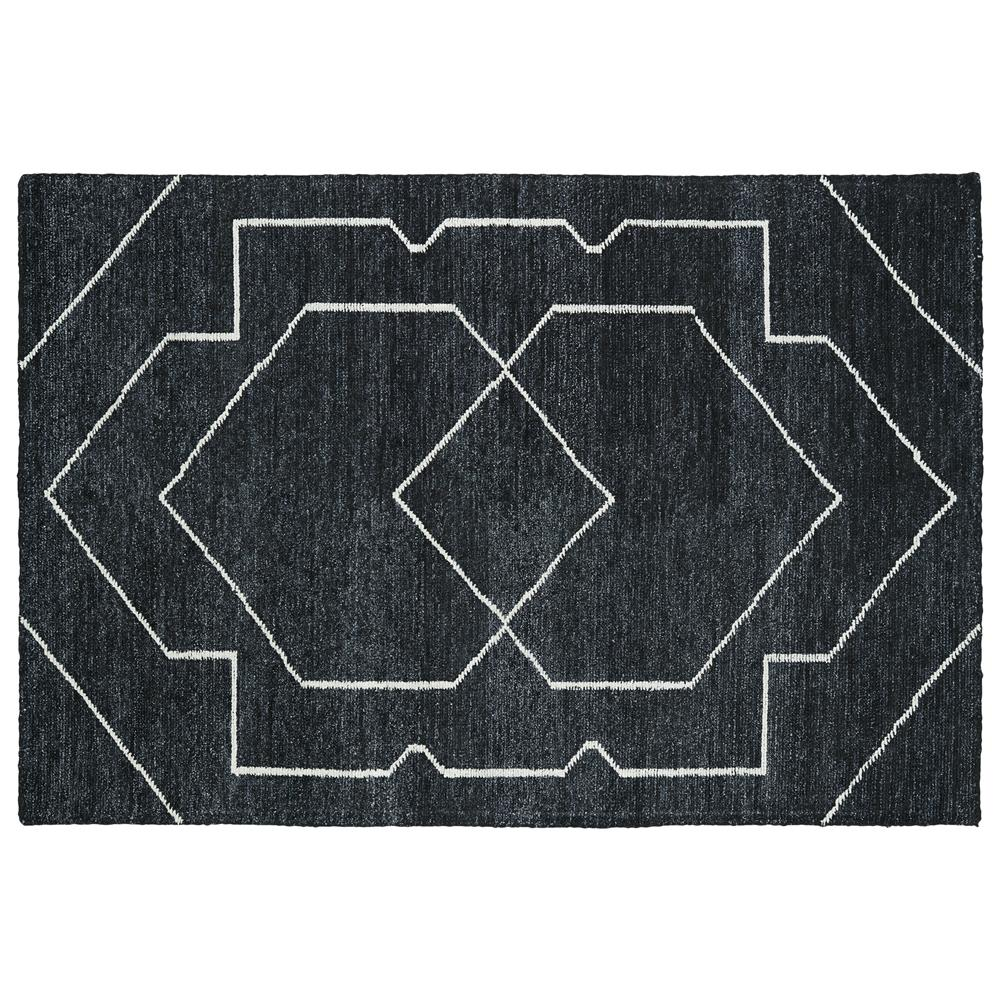 Kaleen Rugs SOL01-38 Solitaire Collection 4 Ft x 6 Ft Rectangle Rug in Charcoal