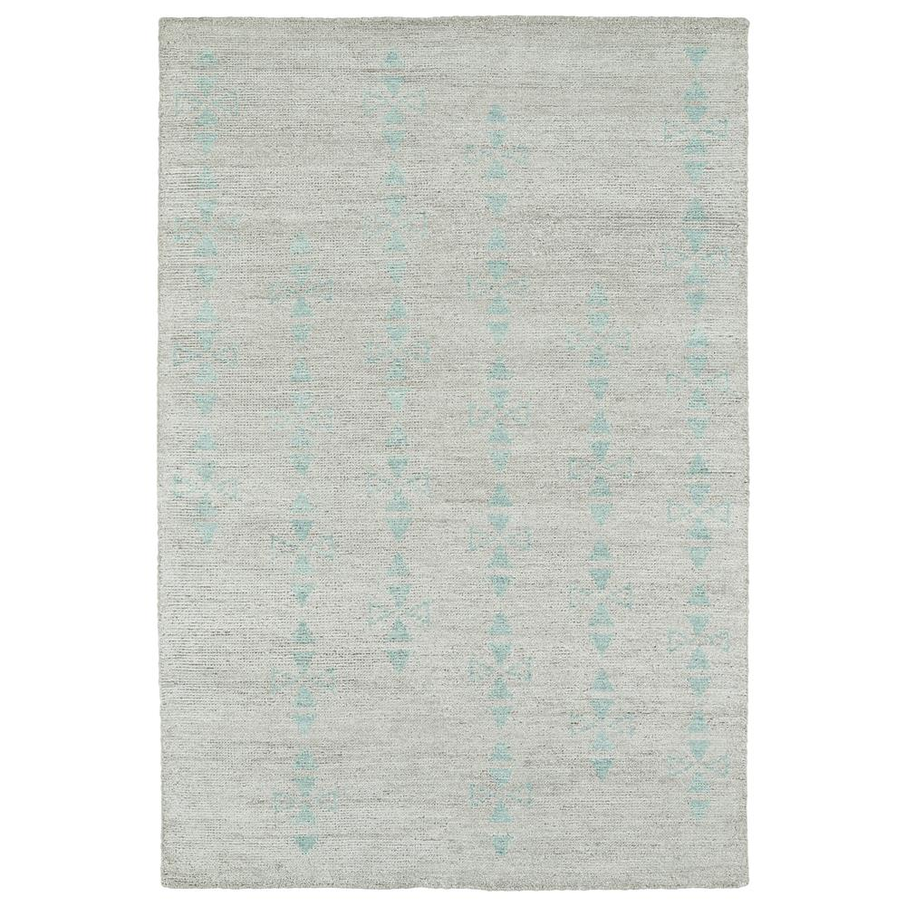 Kaleen Rugs SOL03-77 Solitaire Collection 2 Ft x 3 Ft Rectangle Rug in Silver