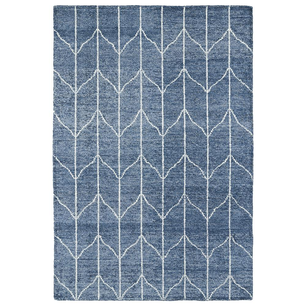 Kaleen Rugs SOL05-10 Solitaire Collection 5 Ft x 7 Ft 9 In Rectangle Rug in Denim