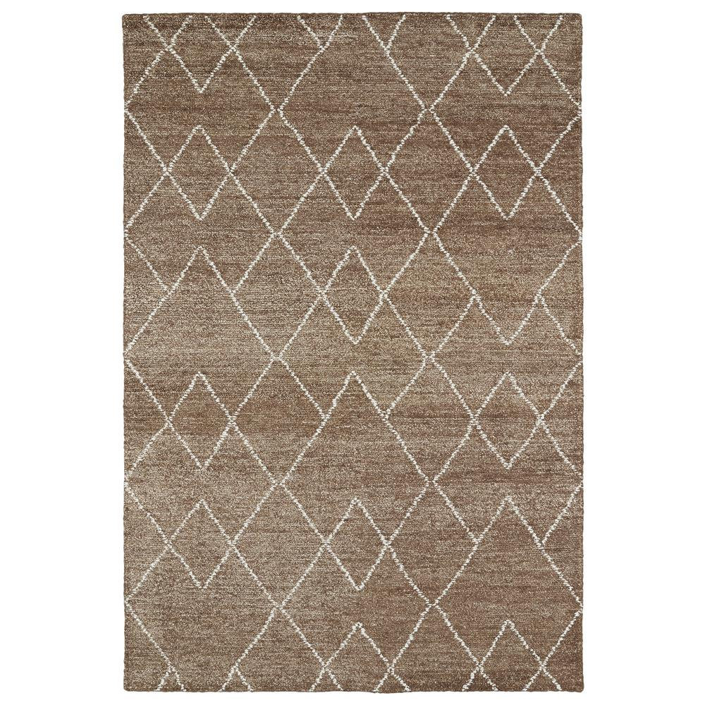 Kaleen Rugs SOL07-49 Solitaire Collection 8 Ft x 11 Ft Rectangle Rug in Brown