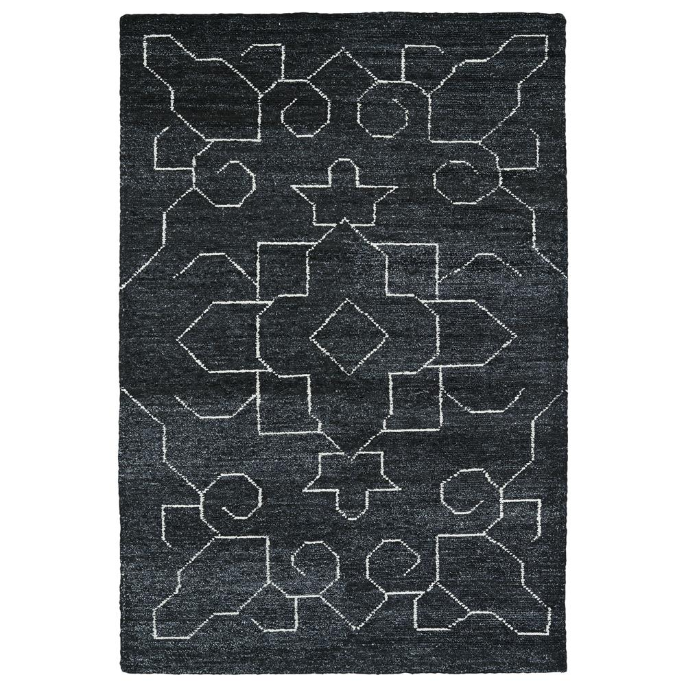 Kaleen Rugs SOL08-38 Solitaire Collection 5 Ft x 7 Ft 9 In Rectangle Rug in Charcoal