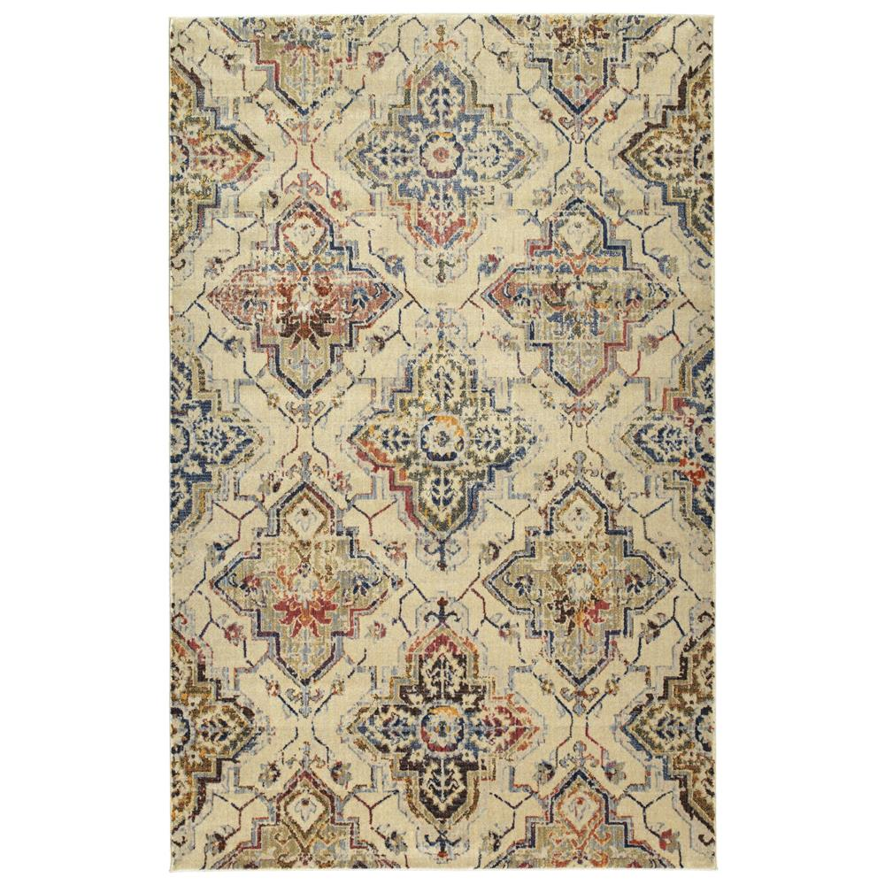 Kaleen Rugs TZA08-42 Tiziano Collection 1 Ft 10 In x 3 Ft 0 In Rectangle Rug in Linen