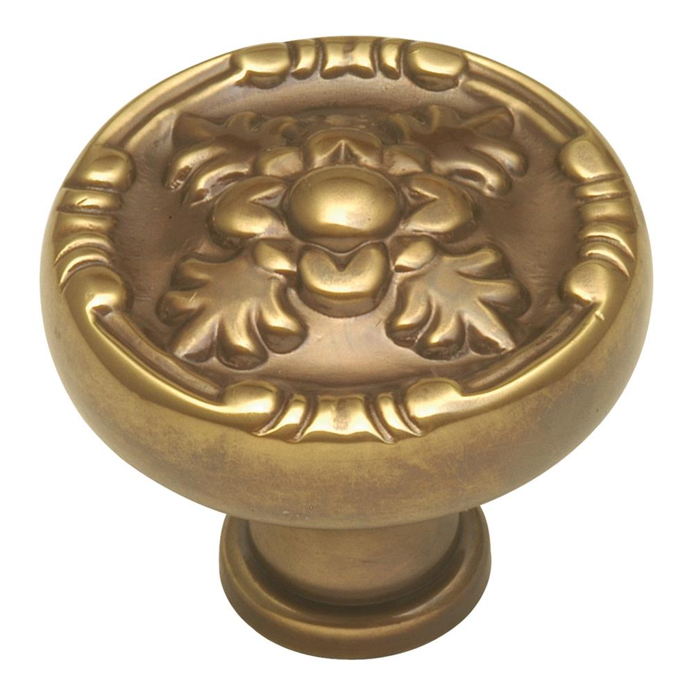 Keeler F106 1-1/4 In. Sherwood Antique Brass Richelieu Solid Brass Cabinet Knob