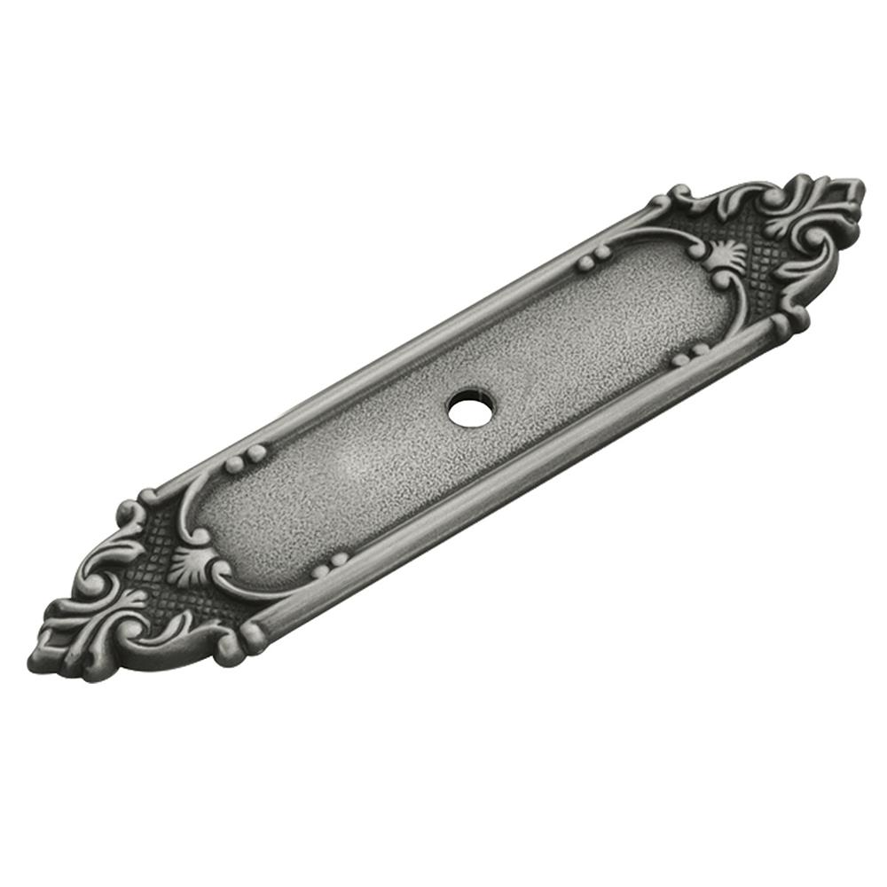 Keeler F505 Richelieu Collection Backplate 4-1/8 Inch X 1 Inch Antique Pewter Finish