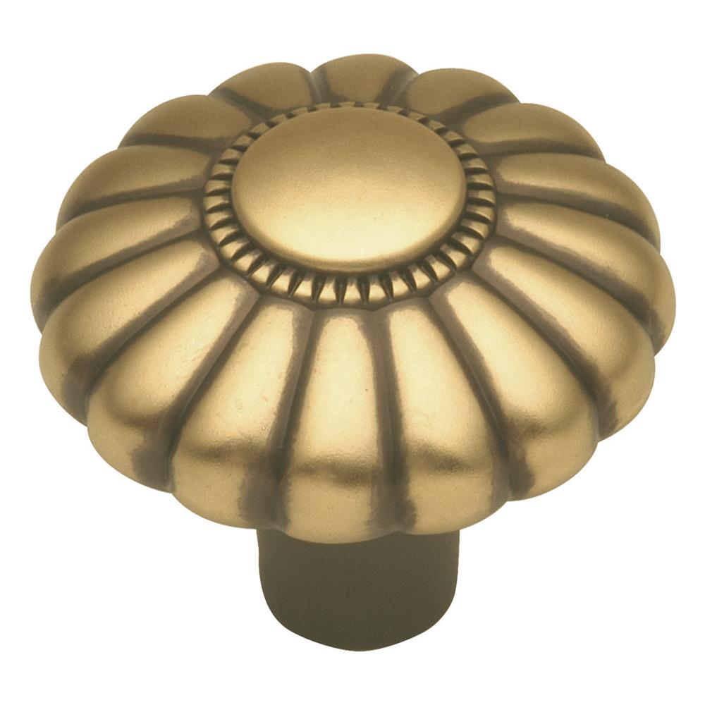 Keeler G2-06 1-1/4 In. Winchester Brass Beaded Classic Solid Brass Cabinet Knob