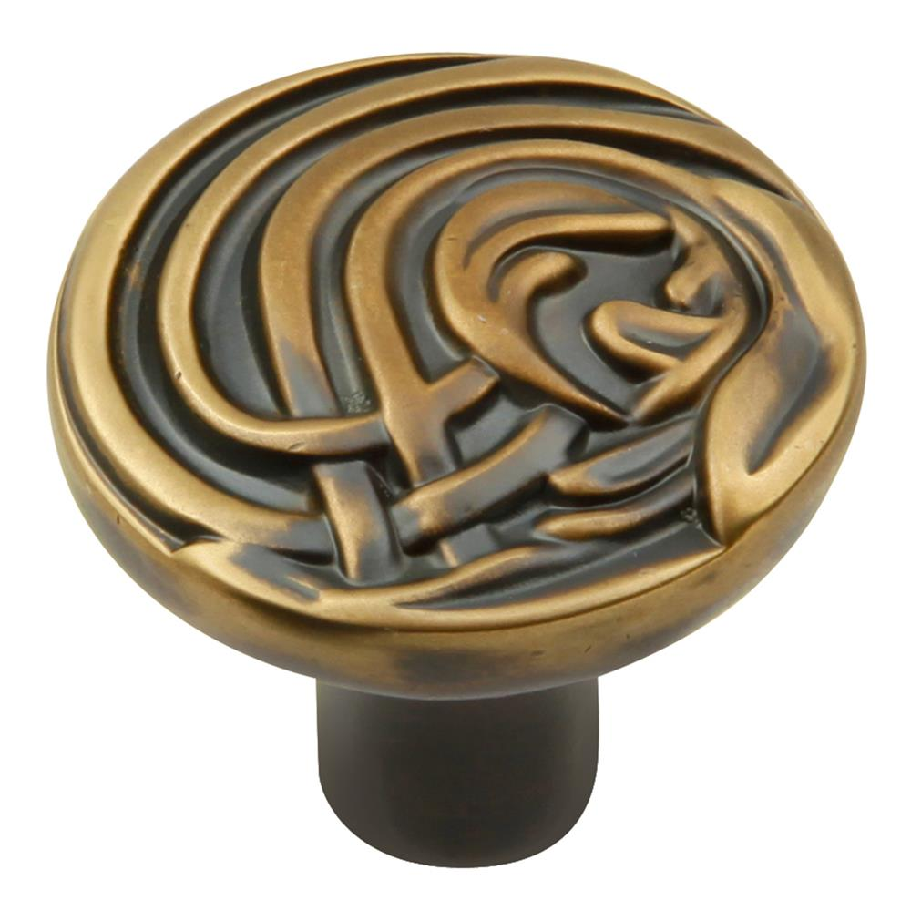 Keeler KB73905-06 Nouveau Collection Knob 1-3/8 Inch Diameter Winchester Brass Finish