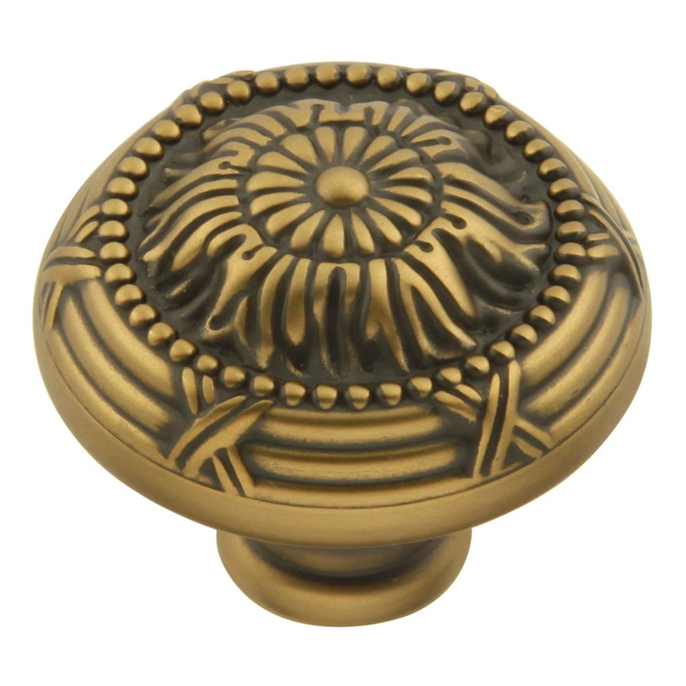 Keeler M3-06 Ribbon & Reed Collection Knob 1-1/2 Inch Diameter Winchester Brass Finish