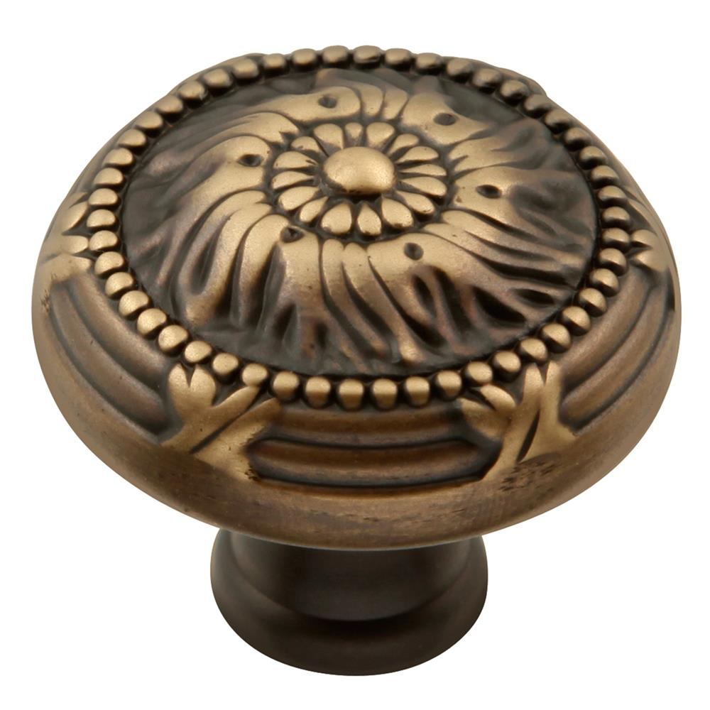 Keeler M3-9312 Ribbon & Reed Collection Knob 1-1/2 Inch Diameter Authentic Brass Finish