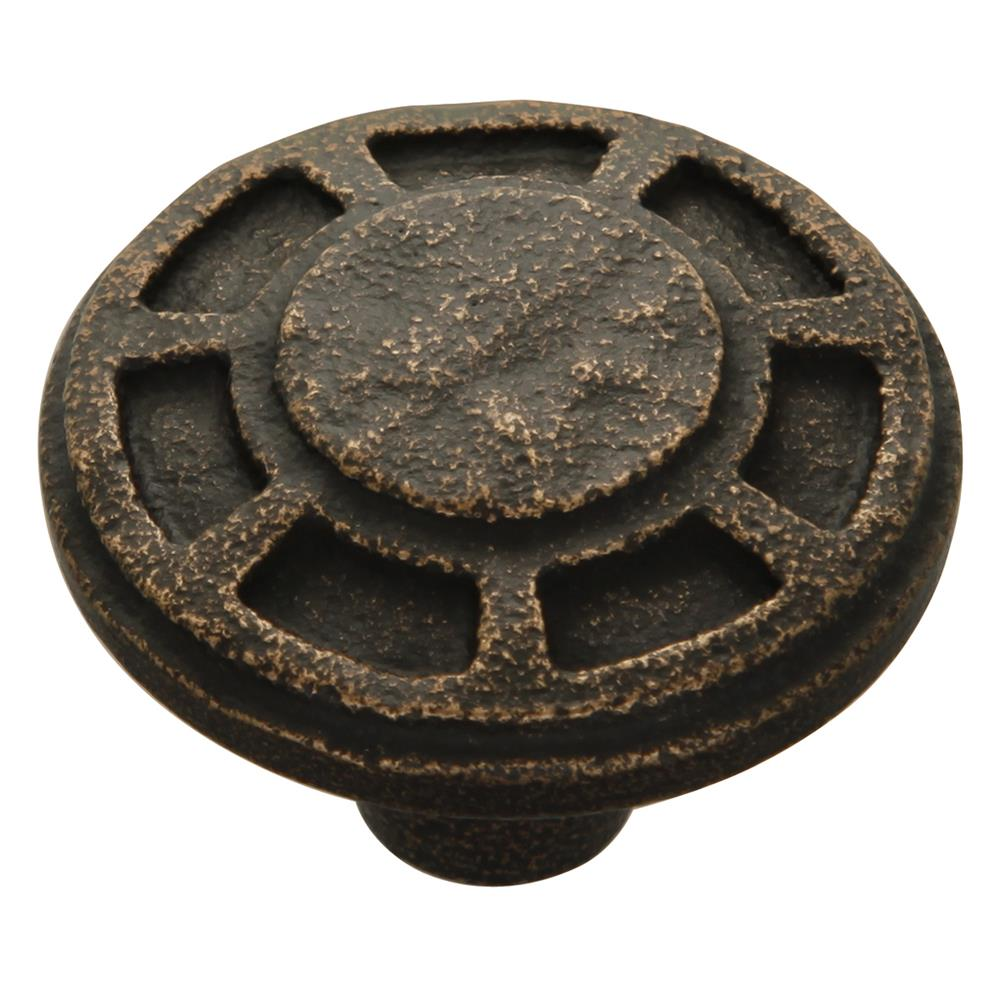 Keeler P6201-2114 Riverside Collection Knob 1-9/16 Inch Diameter Antique Satin Bronze Finish